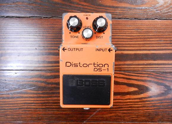 1981 Boss DS-1 Distortion (long dash/silver screw)