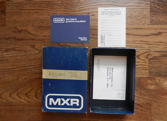 MXR 10-Band EQ Box, Papers & Manual