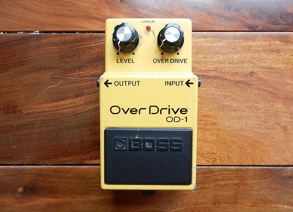 1986 Boss OD-1 Overdrive w/ JRC4558DD chip