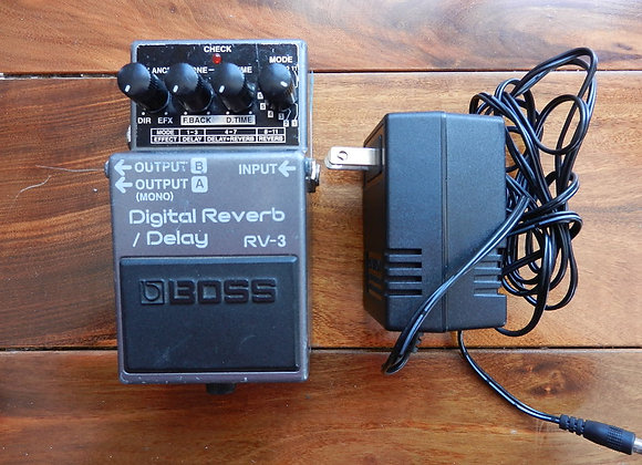 Boss RV-3 Digital Reverb/Delay w/ power supply