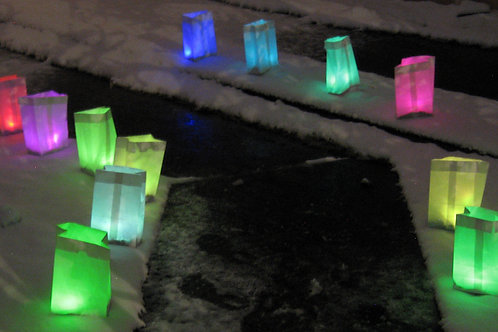Colored Luminarias