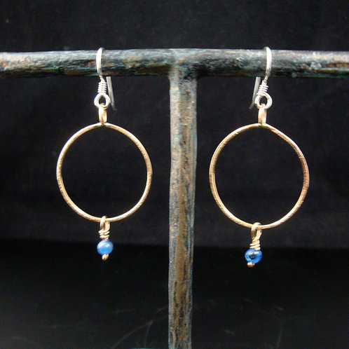 Kyanite and Bronze earrings