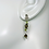 Thumbnail: Smoky Quartz and Peridot Sterling Silver Post Dangle Earrings