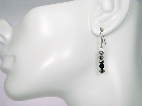 Matte Black Onyx Dangle Earrings