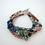 Thumbnail: Triple Strand Multi Stone Bracelet, Multi Color Bracelet, Natural Stone Bracelet