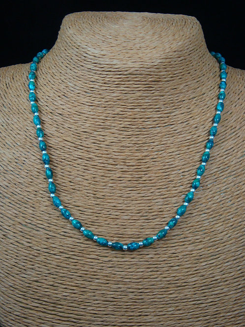Green Blue Genuine Turquoise Strand Necklace