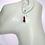 Thumbnail: Dumortierite, Rhodonite, and Sunstone Earrings, Blue Earrings, Pink Earrings, Mi