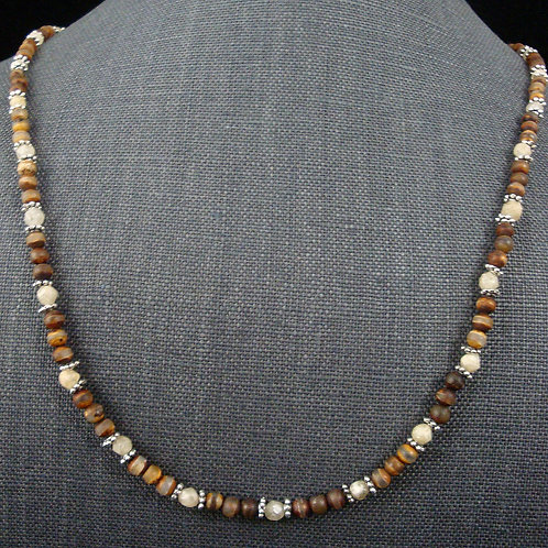 Fire Agate and Citrine Druzy necklace