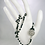 Thumbnail: Matte Onyx With Pewter Accent Button and Bead Lariat Necklace, Black Lariat, Bla