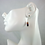 Thumbnail: Modern Minimalist Multi Stone Cube Bead Dangle Earrings