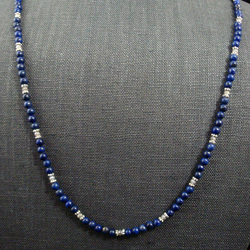 Lapis and Frosted Labradorite necklace