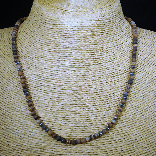 Heat Treated Fire Agate Strand Necklace