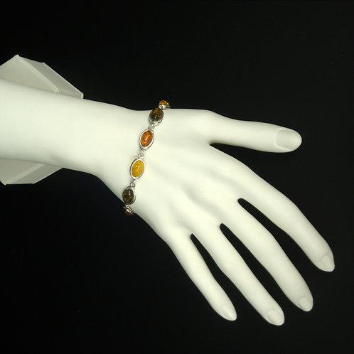 Baltic Amber Link Bracelet