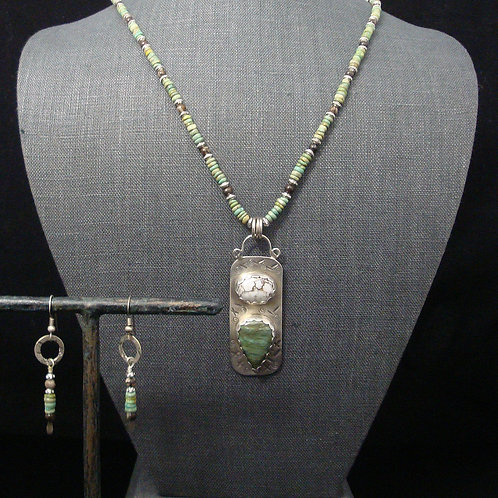 Green Turquoise and Outback Jasper necklace