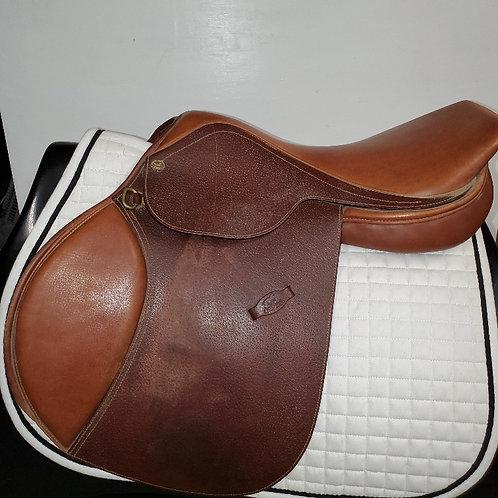 "Flex Rider Jump Saddle, 17.5"", medium"