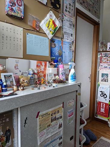 玄関には名古屋市を中心とした近辺のイベントチラシが貼ってあります。色々な体験をしましょう