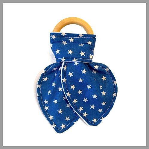 Mini Blue Stars Teething Ring