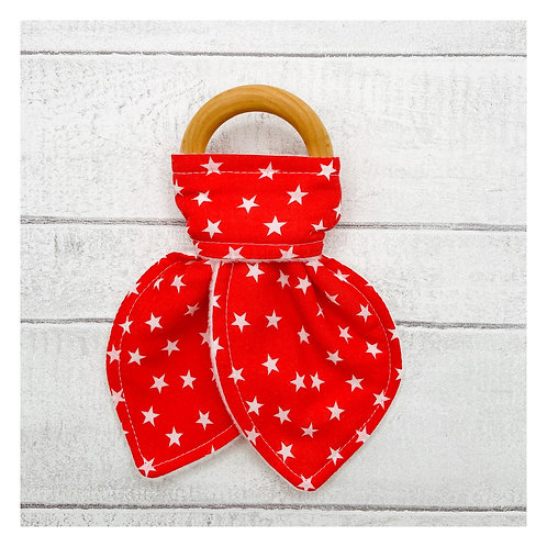 Mini Red Stars Teething Ring