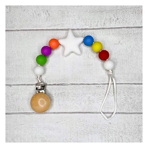 Rainbow Teething Dummy Chain