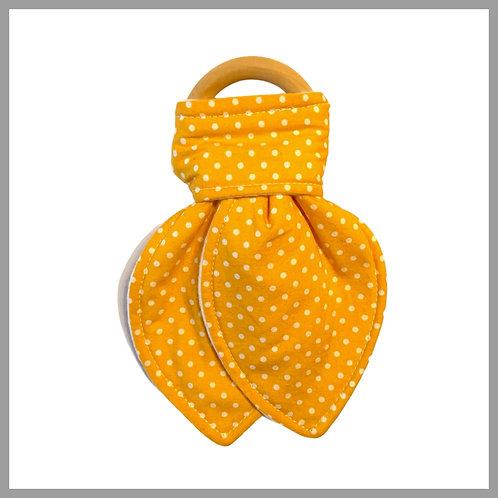 Yellow Spotty Teething Ring
