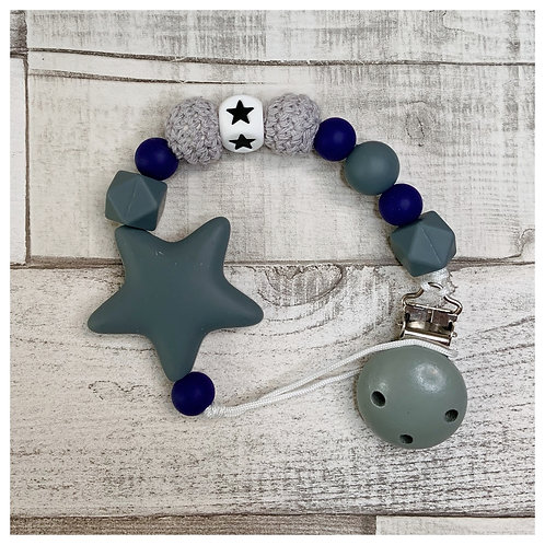 Grey And Navy Star Chain