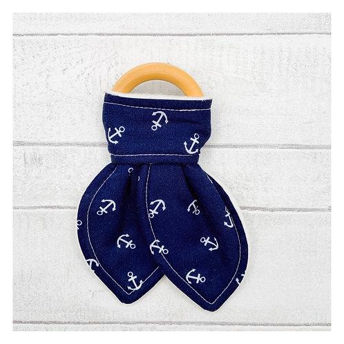 Navy Anchors Teething Ring