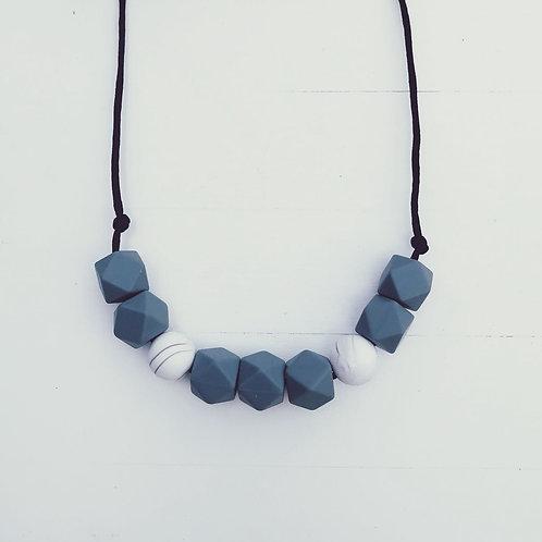 Grey Teething Necklace