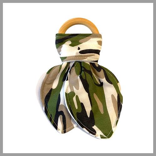 Army Print Teething Ring