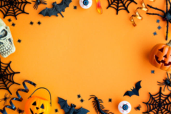 Collection of Halloween party objects fo