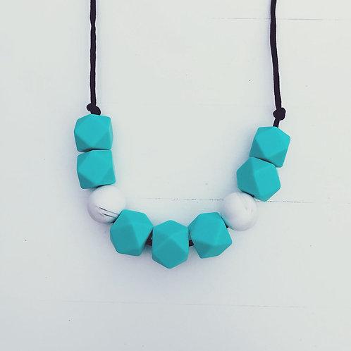 Aqua Teething Necklace