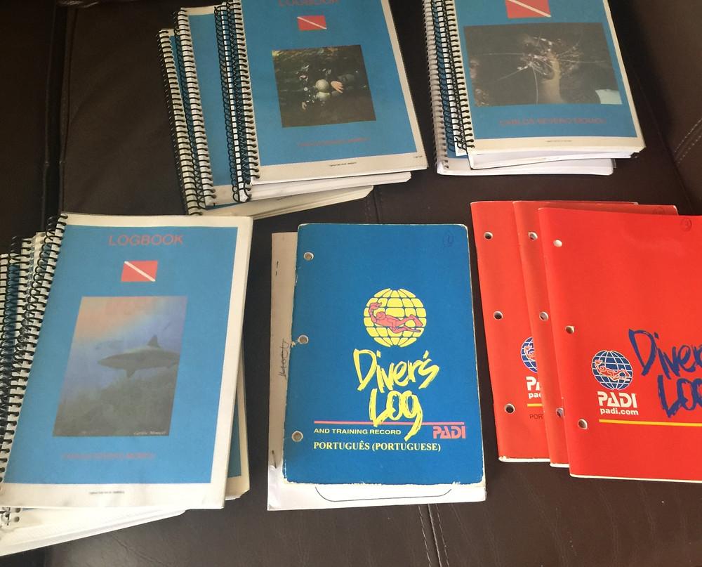 Registros em papel 1998 - 2018 - 20 anos de mergulho e um pouco mais de 1000 mergulhos