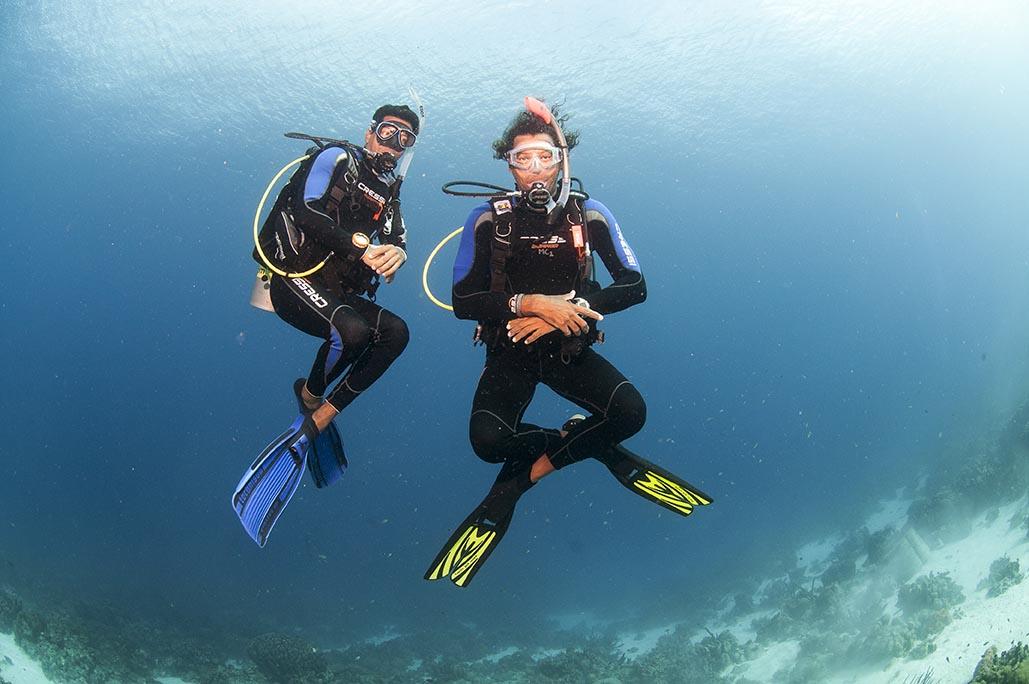 Flutuabilidade Bonaire Diving College