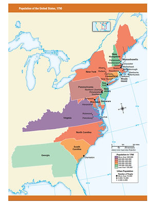 Mrsjessicagonzalez US History Maps - The us map 1790