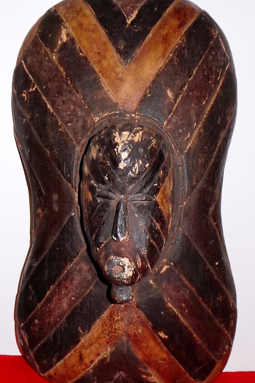 Songe Hand Carved Mask Shield - Congo Tribal Art