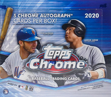 2020 Topps Chrome Baseball Trading Cards Box