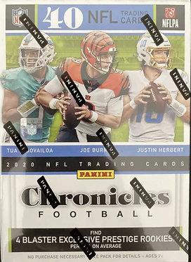 2020 Panini NFL Chronicles Football Trading Card Blaster Box