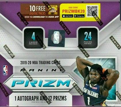 3 2019-20 NBA Panini Prizm - 4 Card Packs