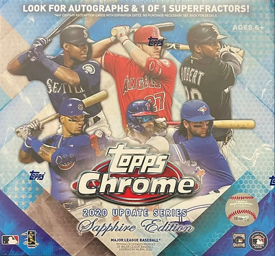 2020 Topps Chrome Update Series Sapphire Edition