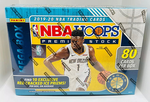 2019-20 NBA Hoops Premium Stock MEGA BOX Red Cracked Ice