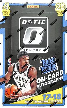 2017 - 18 Panini Donruss Optic Basketball - 4 Card Packs