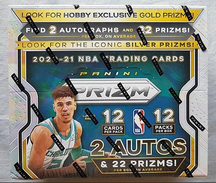 Panini Prizm Hobby Box Basketball NBA 2020-21 12 Card Packs