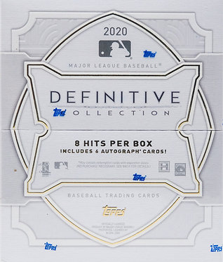 2020 Topps Definitive Collection Baseball Trading Cards Box