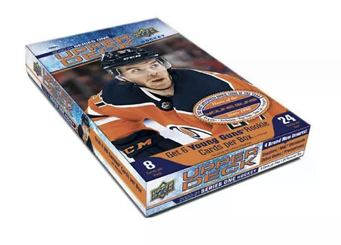 Upper Deck 2020-21 Series 1 Hockey Hobby Box with 6 Young Guns Rookie Cards