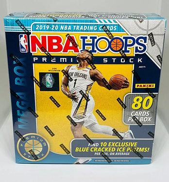 2019-20 Panini NBA Hoops Premium Stock Mega Box Blue Cracked Ice