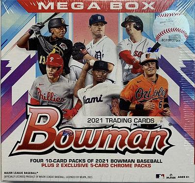 2021 Topps MLB Bowman Baseball MEGA Box