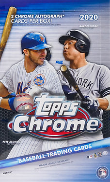 Topps Chrome Baseball Trading Cards Box