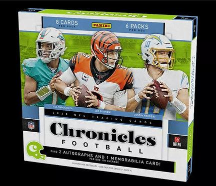 2020 NFL Panini Chronicles Football Hobby Box