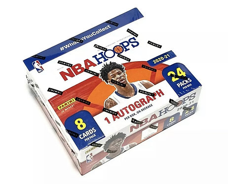 2020-21 Panini NBA Hoops Basketball - Sealed Retail Box (24 Packs, 1 Auto)