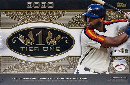 2020 Tier 1 Baseball Trading Cards Box