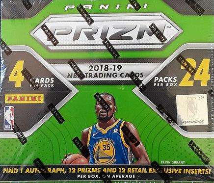 2018-19 Panini Prizm Basketball - 4 Card Packs
